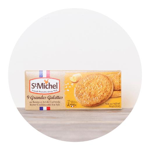St Michel 9 x Butter Cookies with Sea Salt