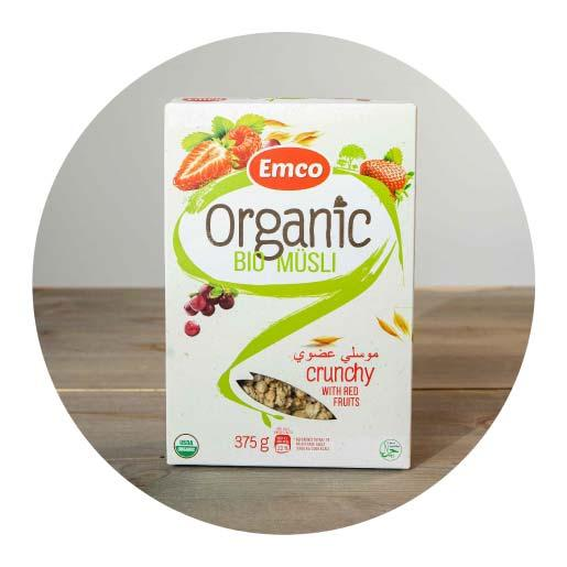 Emco Bio-Organic Crunchy Muesli with Red Fruits - 375g