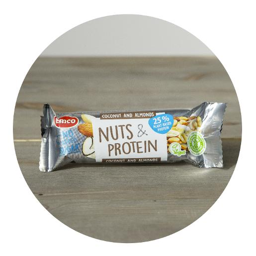 Emco Coconut and Almonds Nuts & Protein Bar with No Added Sugar - 35g