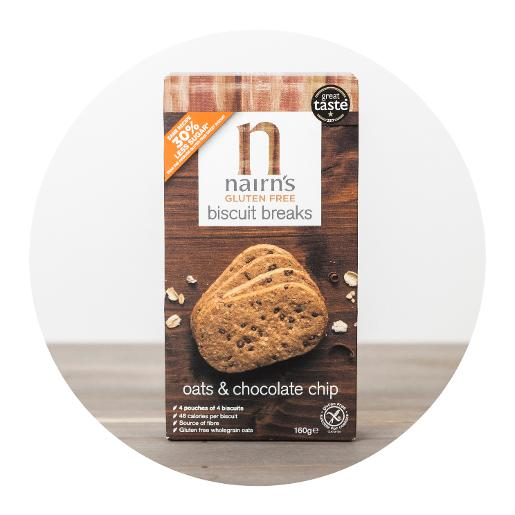 Nairn's Oats & Chocolate Chip Biscuit Breaks  - 4 pouches x 4 biscuits