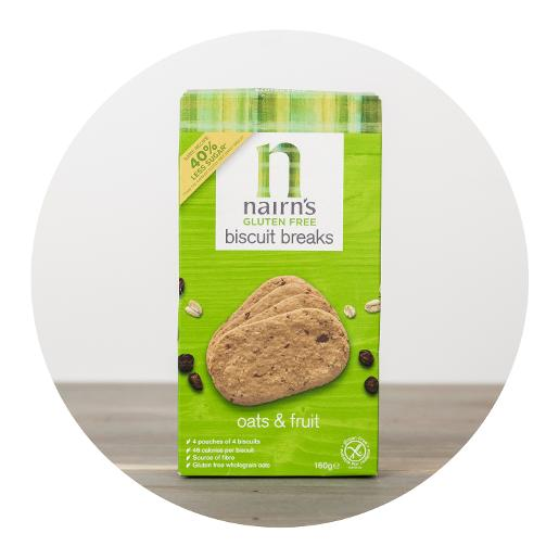 Nairn's Oats & Fruit Biscuit Breaks - 4 pouches x 4 biscuits