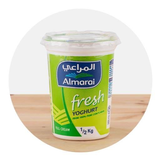 Almarai Full Fat Fresh Yoghurt Plain - 500g