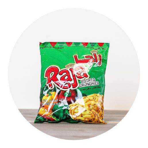 Raja Vegetable Flavour Potato Crunchies - 70g