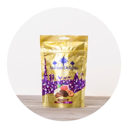 Arabian Delights Assorted Choco Figs - 100g