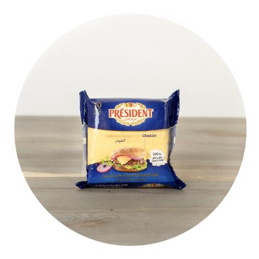 President Cheddar Cheese Burger Slices x 10 - 200g