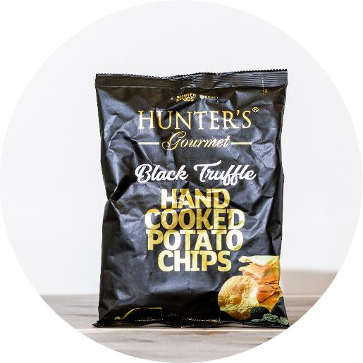 Hunter Hand Cooked Potato Chips - Black Truffle (125g)